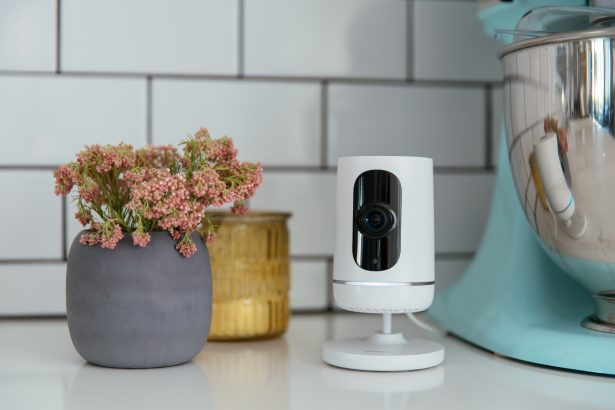 Vivint ping camera in a kitchen