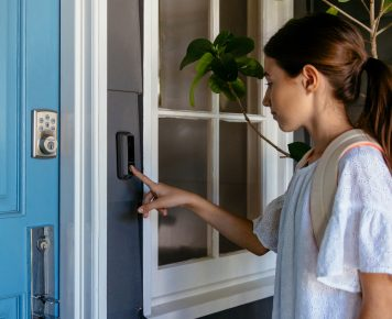 Girl rings vivint doorbell