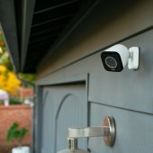 Vivint outdoor camera pro outside a house