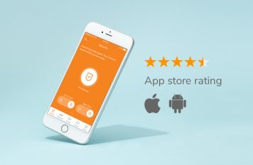 Vivint app with high App Store rating