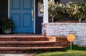 House with Vivint sign at front