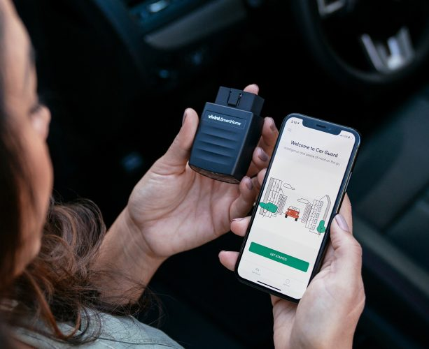 Vivint car guard and mobile app