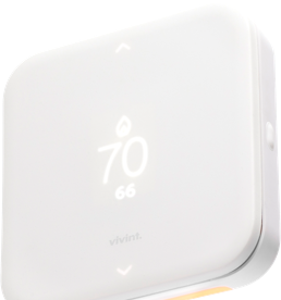 angle shot of Vivint Element Thermostat