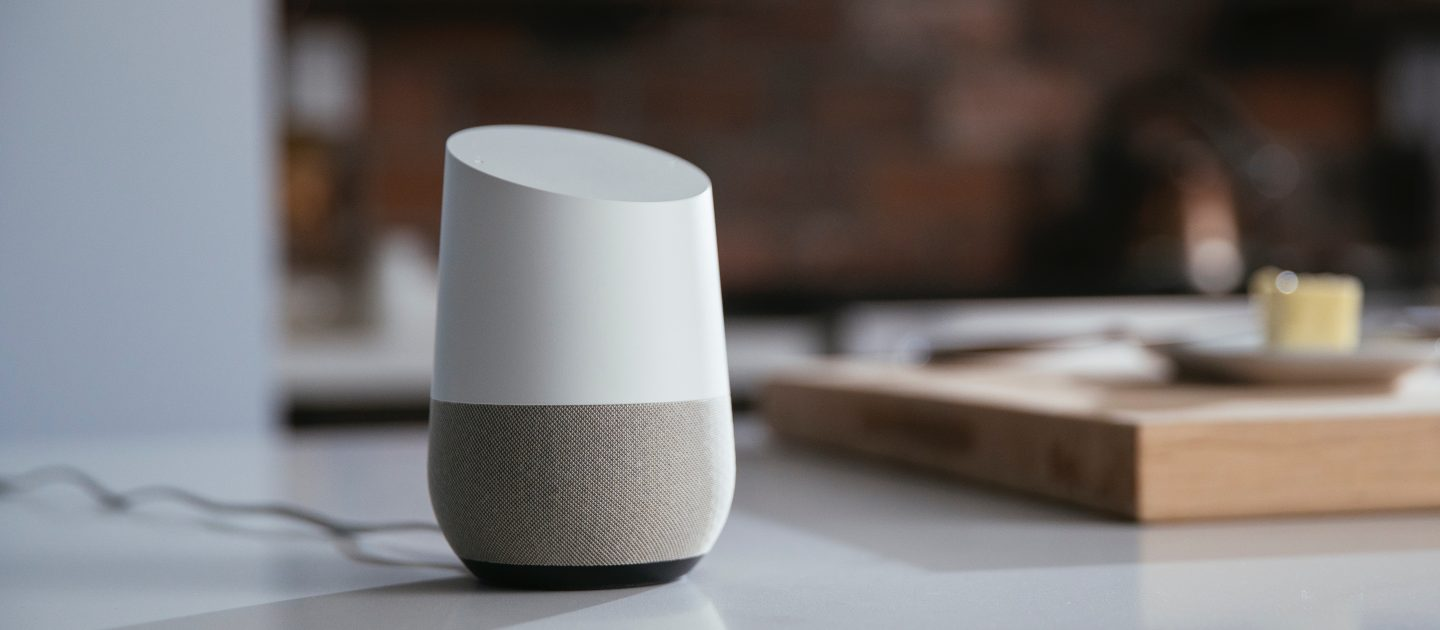 Google Home on a work surface