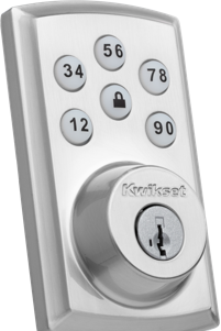 Close up on vivint smart lock product