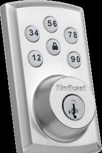 Close up on vivint smart lock product