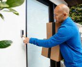 Delivery driver presses vivint doorbell camera