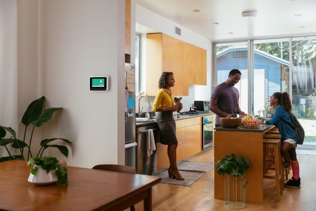 vivint smart hub in a family home