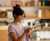 Customer using Vivint smart home app