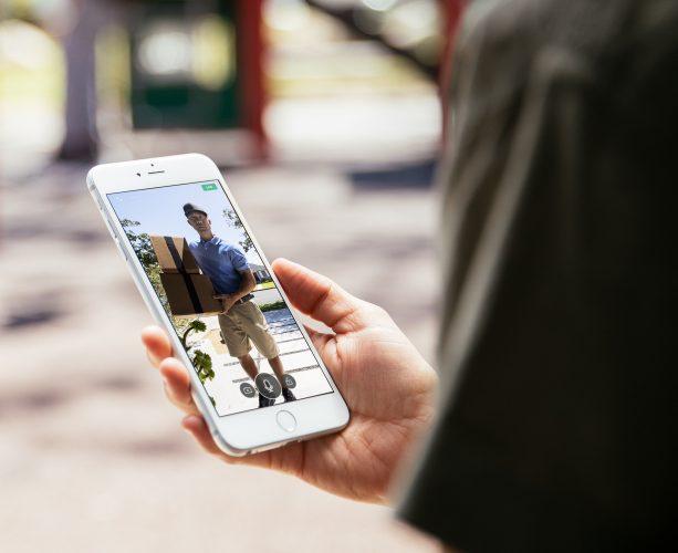 Customer checking doorbell camera Vivint smart home app