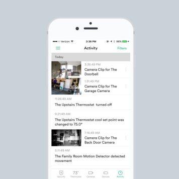 screenshot of Vivint mobile app