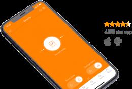 Vivint mobile app in use