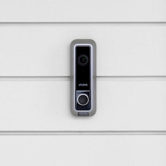 Vivint doorbell camera in use