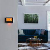 vivint smart home hub on a wall