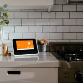 vivint smart home hub in a kitchen