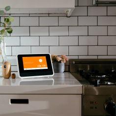 vivint smart home hub in a kitchen
