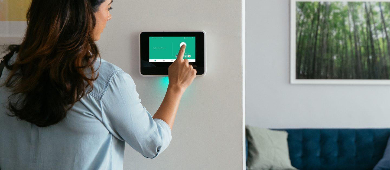 Vivint Smart home hub in use
