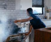 Vivint smoke alarm detects kitchen smoke