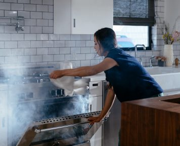 Vivint smoke alarm detects kitchen smoke