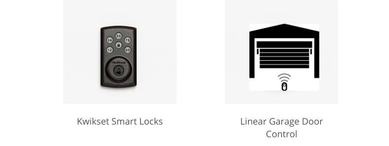 vivint smart lock and garage door control