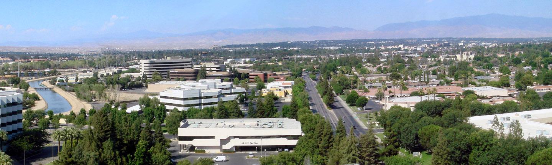 Bakersfield skyline view